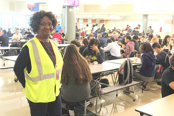 Freddie Thomas, a 29-year resident of Bolingbrook, was recognized for her volunteer efforts at Bolingbrook High School.