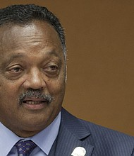 Reverend Jesse Jackson says that President Obama's most historic contribution was to understand the clear and present danger of catastrophic climate change. In this photo, Jackson speaks at the United Nations for the International Day for the Elimination of Racial Discrimination in Geneva in March 2012. (Eric Bridiers/Wikimdia Commons)