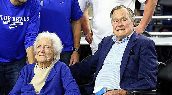 "Former President George H.W. Bush and former first lady Barbara Bush are ""both on the upswing,"" Bush family spokesman Jim ..."