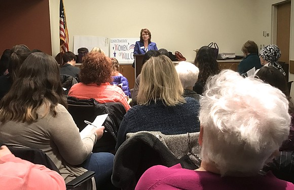 The Democratic Women of Will County held their annual meeting, the first during the Trump administration.