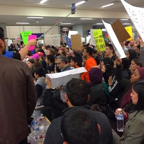 America's major airports became ground zero Sunday for a second consecutive day of protests against President Donald Trump's new immigration ...