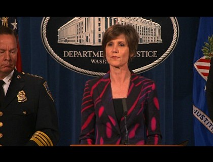 "President Donald Trump fired acting Attorney General Sally Yates Monday night for ""refusing to enforce a legal order designed to ..."