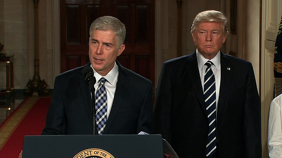 Neil Gorsuch, 49, poised to be the next justice of the U.S. Supreme Court, was introduced to the world Monday.