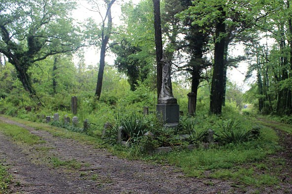 These May 2016 photos show the impact of cleanup efforts at historic Evergreen Cemetery. The above photo shows one plot before volunteers with the Maggie Walker High School Class of 1967 led by Marvin Harris went to work.