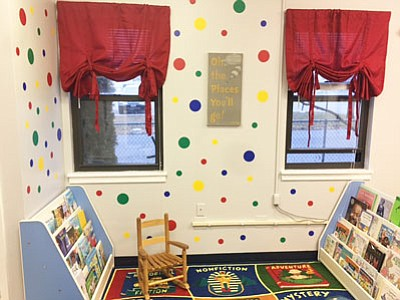 Arundel Bay Area Chapter members of Jack & Jill of America partnered with local organizations to install a reading room ...