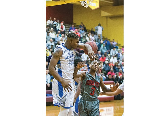 George Wythe High School's basketball opponents are in trouble — make that triple trouble — whenever Eugene Williams uncorks a ...