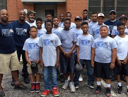 A special workout challenge with youth from Baltimore City and the Baltimore City Police Department (BCPD) at Under Armour's Performance ...