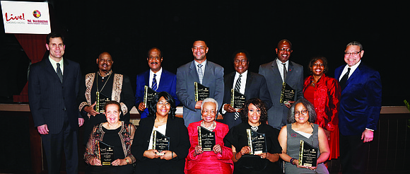 The 4th Annual Black History Heroes Awards Honorees. The group was honored on Thursday, February 23, 2017 at Live! Casino ...
