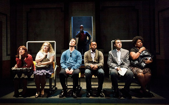 """Acapella singing has found a home on Broadway with """"In Transit,"""" a new musical playing at the Circle in the ..."""