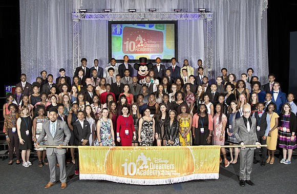 Walt Disney World Resort welcomed 100 teens selected to participate in the 10th Disney Dreamers Academy with Steve Harvey and ...