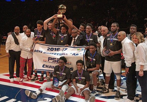The 2017 NYC PSAL High School championships shared the basketball court of Madison Square Garden Saturday, the home of the ...