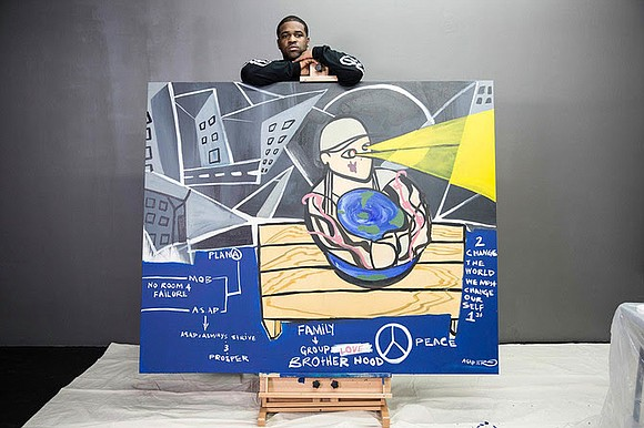 Rapper ASAP Ferg is donating a large scale oil painting that he originally debuted during Art Basel Miami Beach 2015 ...