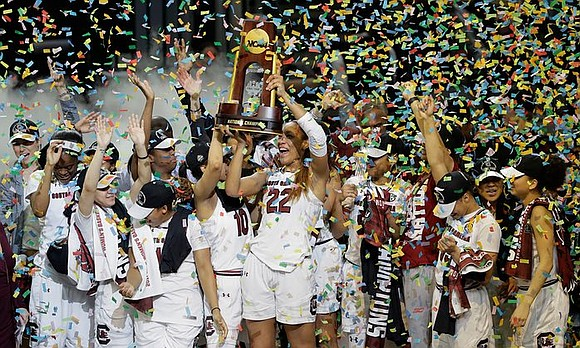 A'ja Wilson scored 23 points to help coach Staley and South Carolina win their first national championship with a 67-55 ...