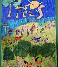 First place Tree City USA poster winner Kassandra Palmerin winning entry.
