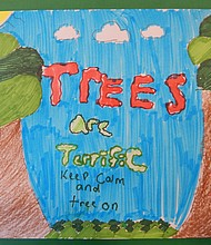 Tree City USA poster winner Liliana Alvarez' 3rd place winning entry.