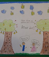 Tree City USA poster entry by Allison Costa--honorable mention