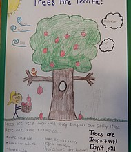 Tree City USA poster winner Dahlia Rosales' honorable mention entry.