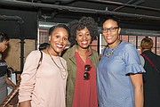(L-R) Orlett Haskett-Torrance, Olesha Haskett, and Shivar Stewart attend March 2017 Vision+Strategy Brunch.