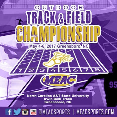 he Mid-Eastern Athletic Conference (MEAC) will host the 2017 Men's and Women's Track & Field Championships Thursday through Saturday, May ...