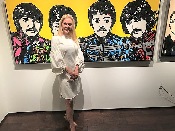 The city illuminated with electric energy during a private opening reception for Houston is Beautiful, a collection of artworks by ...