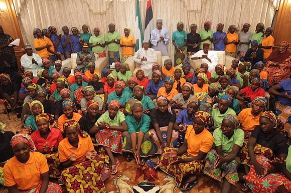The 82 Chibok schoolgirls released in a swap between terrorist group Boko Haram and the Nigerian government have arrived in ...