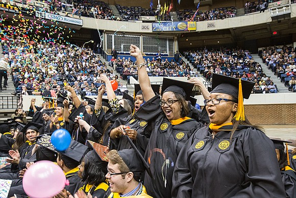 The graduating class of Virginia Commonwealth University received a message aimed at the head as well as the heart during ...