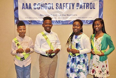 AAA's Mid-Atlantic Foundation for Safety and Education honored 12 elementary school-aged AAA School Safety Patrollers from across Maryland