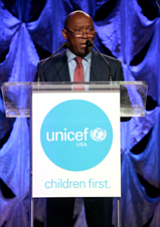 Mayor Sylvester Turner at the fourth annual UNICEF Audrey Hepburn Society Ball