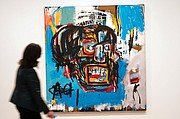 """""""Untitled,"""" a Basquiat painting from 1982, sold for $110.5 million at Sotheby's auction on May 18."""