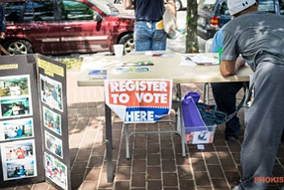 Food is free for anyone who brings their voter registration card or registers to vote at the No Boundary Block Party on Saturday, June 3, 2017 at Pennsylvania Avenue Triangle Park located at Fremont and Pennsylvania Avenues in West Baltimore.