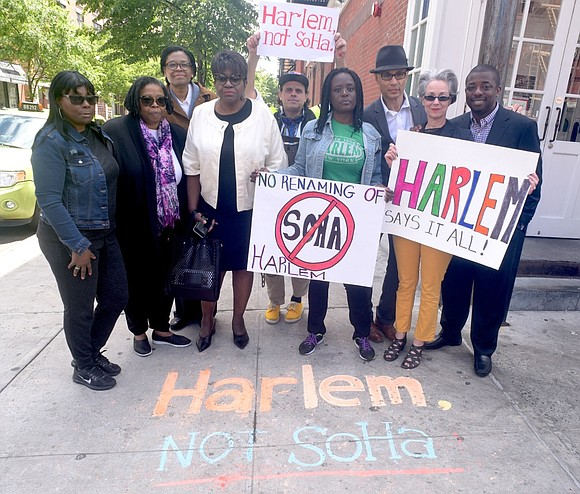 "Activists gathered last week to condemn the rebranding of Harlem south of 125th Street as ""SoHa."" Comptroller Scott M. Stringer ..."