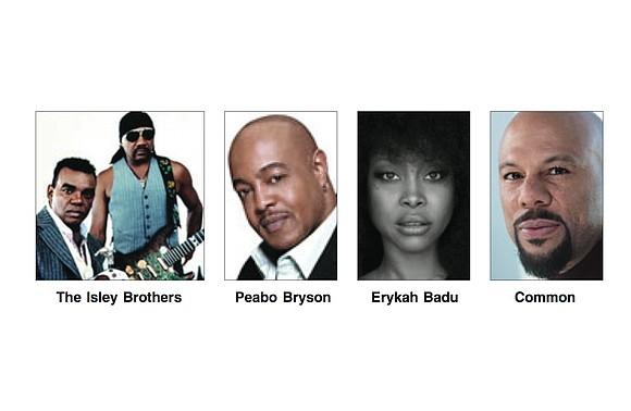 Pat Metheny. Common. Peabo Bryson. Erykah Badu. Joey Alexander. Dave Koz with Larry Graham. The Isley Brothers. David Benoit. TajMo: ...