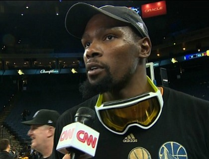 Kevin Durant joined the Golden State Warriors to win his first NBA championship.