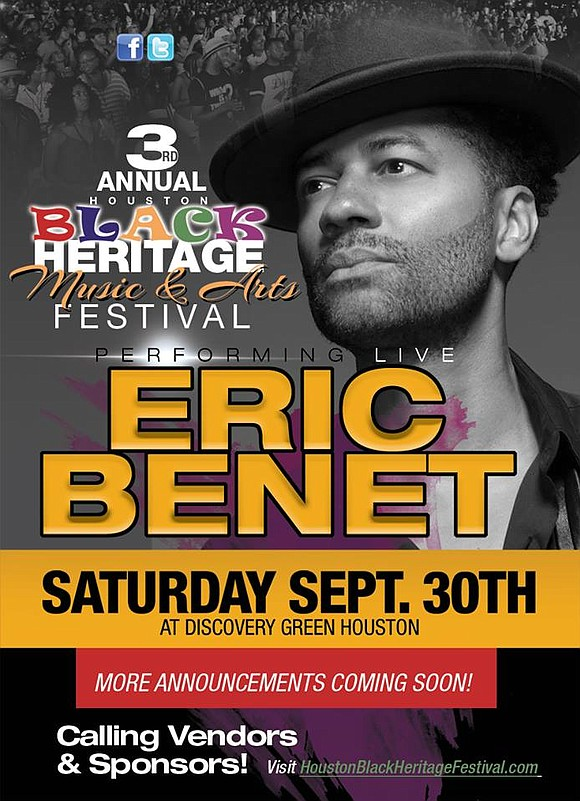 Eric Benét and many others set to rip the stage at the third annual Black Heritage Festival. Center stage in ...