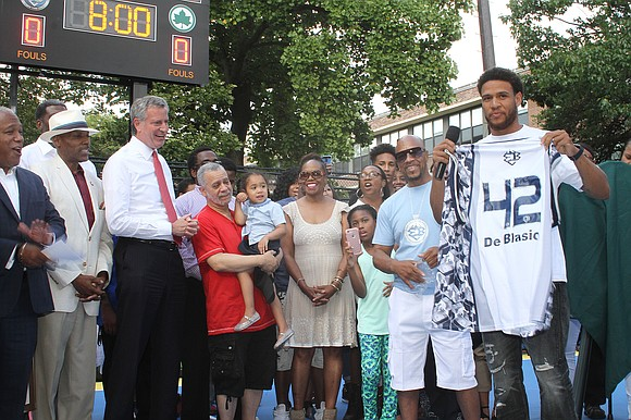 Greg Marius, the founder and former CEO of the Entertainer's Basketball Classic at Rucker Park, was honored this past week ...