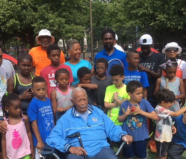 the david dinkins tennis club serves up another season new york amsterdam news the new black view the david dinkins tennis club serves up