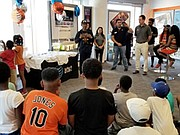 AT&T hosted the team at the Harbor East AT&T store in downtown Baltimore on Friday, June 30, to present jerseys the team will wear in the tournament that's scheduled to begin on Sunday, July 9 in Aberdeen.
