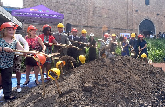 Wednesday, July 12, 2017, a groundbreaking ceremony was held in celebration of the Bronx Children's Museum that's being built on ...
