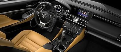 inside the  2017 Lexus RC 350 F Sport