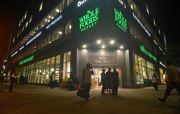 The new Whole Foods in Harlem has seen loads of customers since its opening July 21.