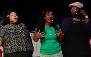 "Cast members of For Better or Worse: Adulterous Anna, (Mayae ""Mimi"" Jones), Sister Geraldine ToPhaze (Tonya Brown), and ""Gossippin' Gertrude"" (Ursulla Waters)"
