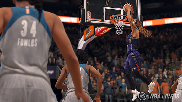 This fall, WNBA teams make their official video game debut as part of NBA Live 18, marking a first for ...