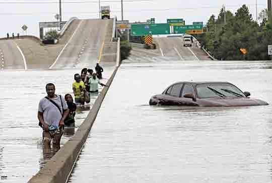 The biggest rainstorm in history to hit the U.S. mainland made a second landfall on Wednesday on the Gulf Coast, ...