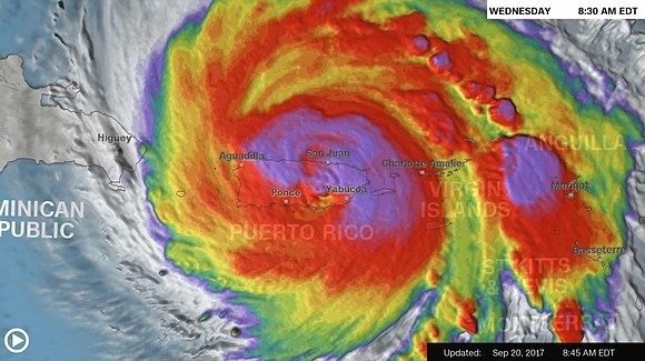 Hurricane Maria pummeled Puerto Rico on Wednesday morning, ripping trees out of the ground and hammering two-thirds of the island ...