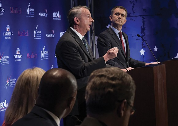 The two major party candidates in Virginia's closely watched race for governor argued in mostly cordial tones Tuesday over taxes, ...