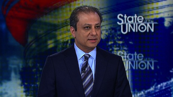 Former US attorney Preet Bharara said Sunday that Deputy Attorney General Rod Rosenstein might have a conflict of interest over ...
