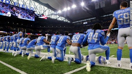 Stadiums across the US -- and even further afield -- became the focus of an unprecedented show of defiance against ...