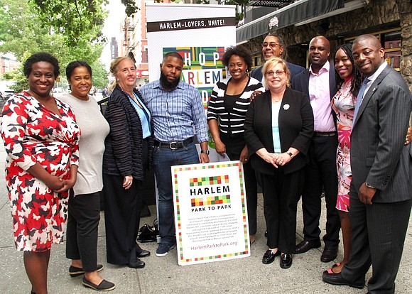 Harlem Park to Park and the office of Senator Brian Benjamin hosted a news conference to highlight the success of ...