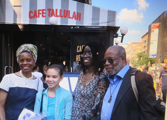 Sunday, Sept. 17, 2017, the community gathered at the northwest corner of West 71st Street and Columbus Avenue to unveil ...