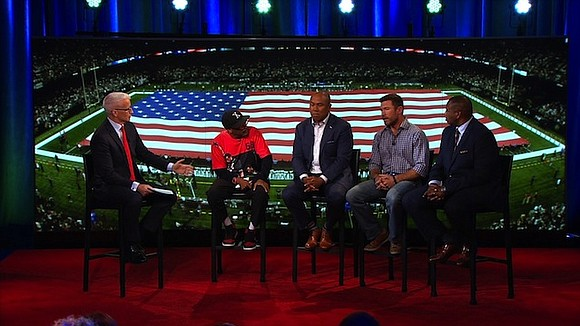 Football fields have become forums for political debate over the past week, after President Donald Trump criticized players who kneel ...